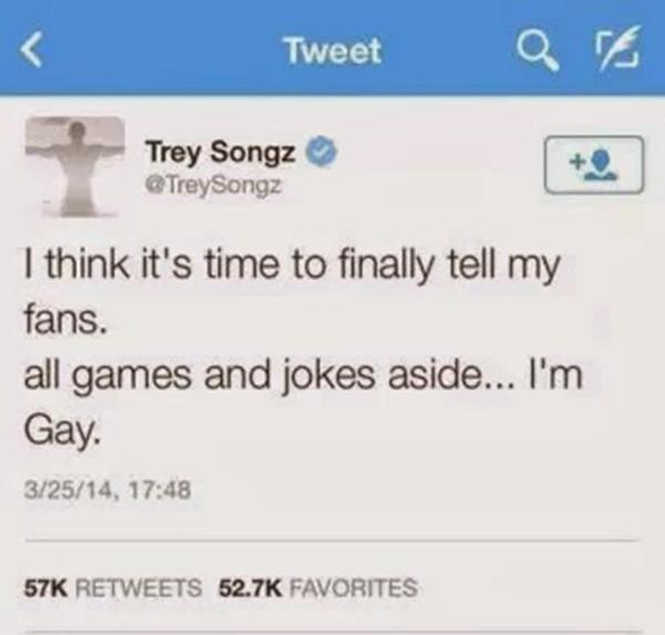 Trey Songz Gay Tweet
