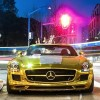 Golden SLS AMG Mercedes Trinidad James Would Love This LOL