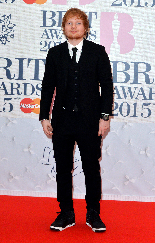 ed sheeran 2015 BRIT Awards