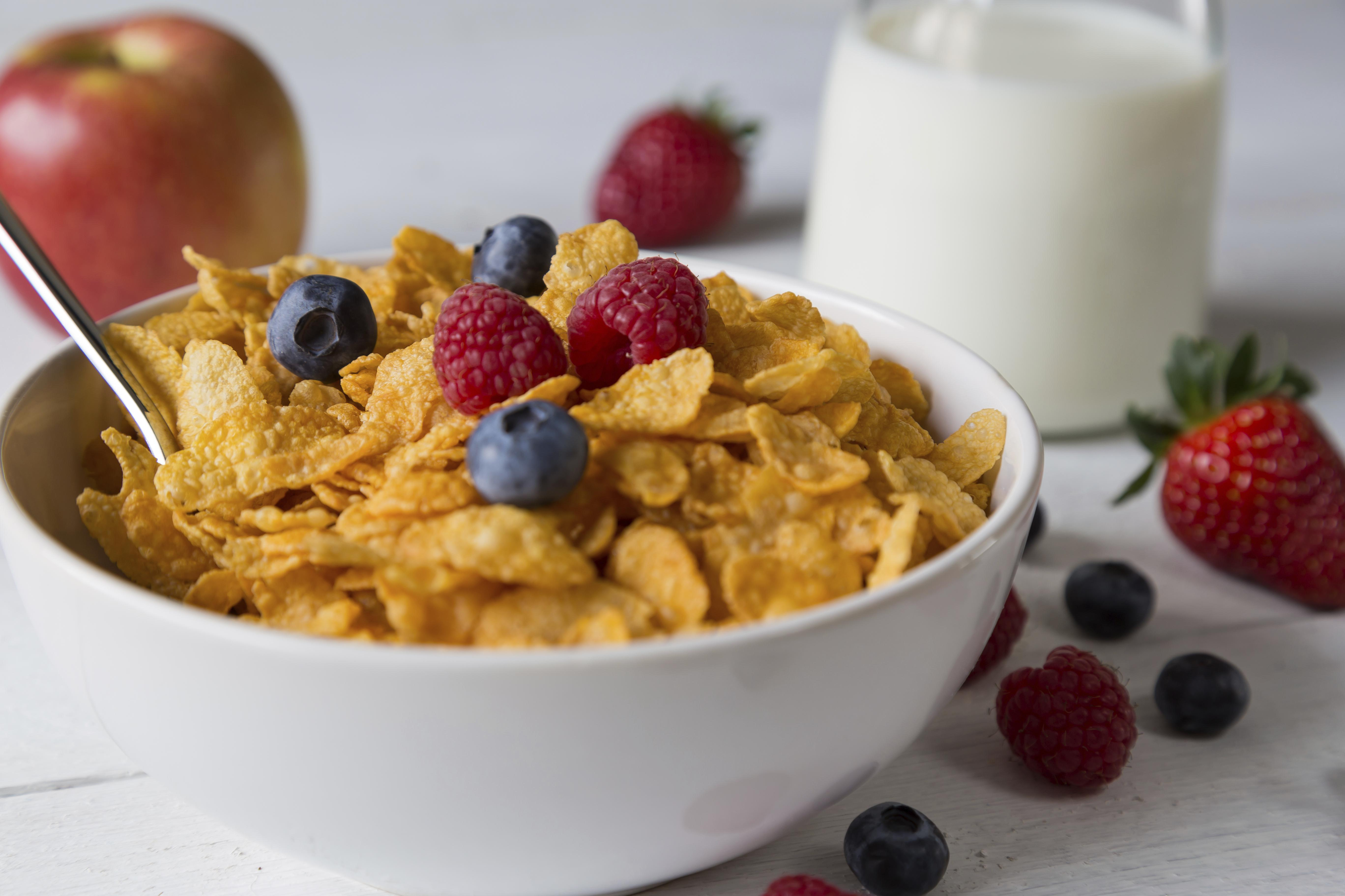Cornflakes in a bowl