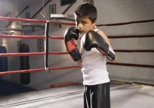 Young Boxer in Ring.