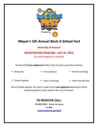 5th Annual Back 2 School Fest