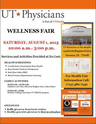 UT Physicians Wellness Fair