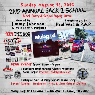 2nd Annual Back 2 School Block Party & School Supply Drive