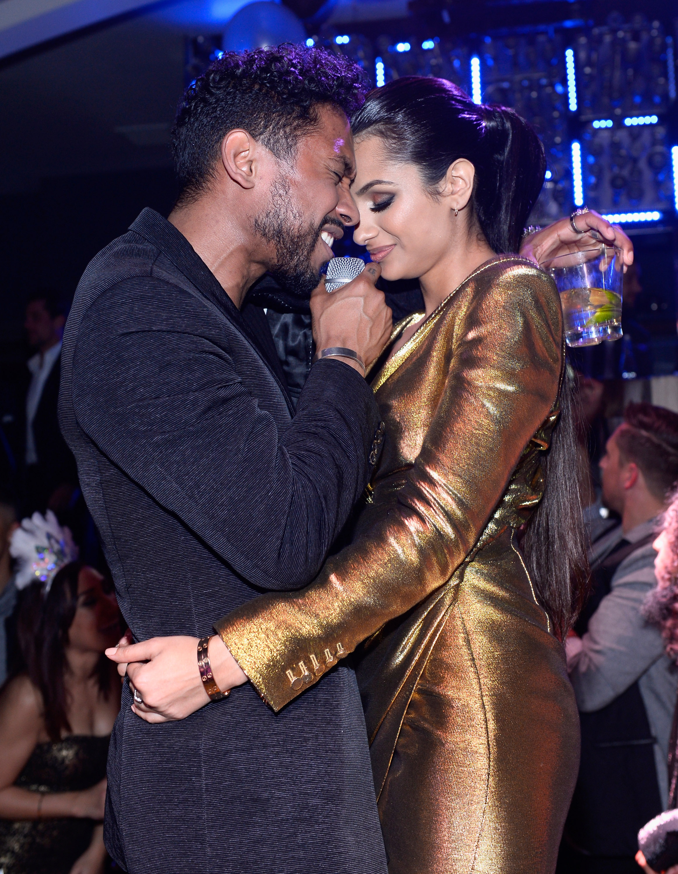 Miguel Hosts 2015 New Year's Eve At Hyde Bellagio In Las Vegas