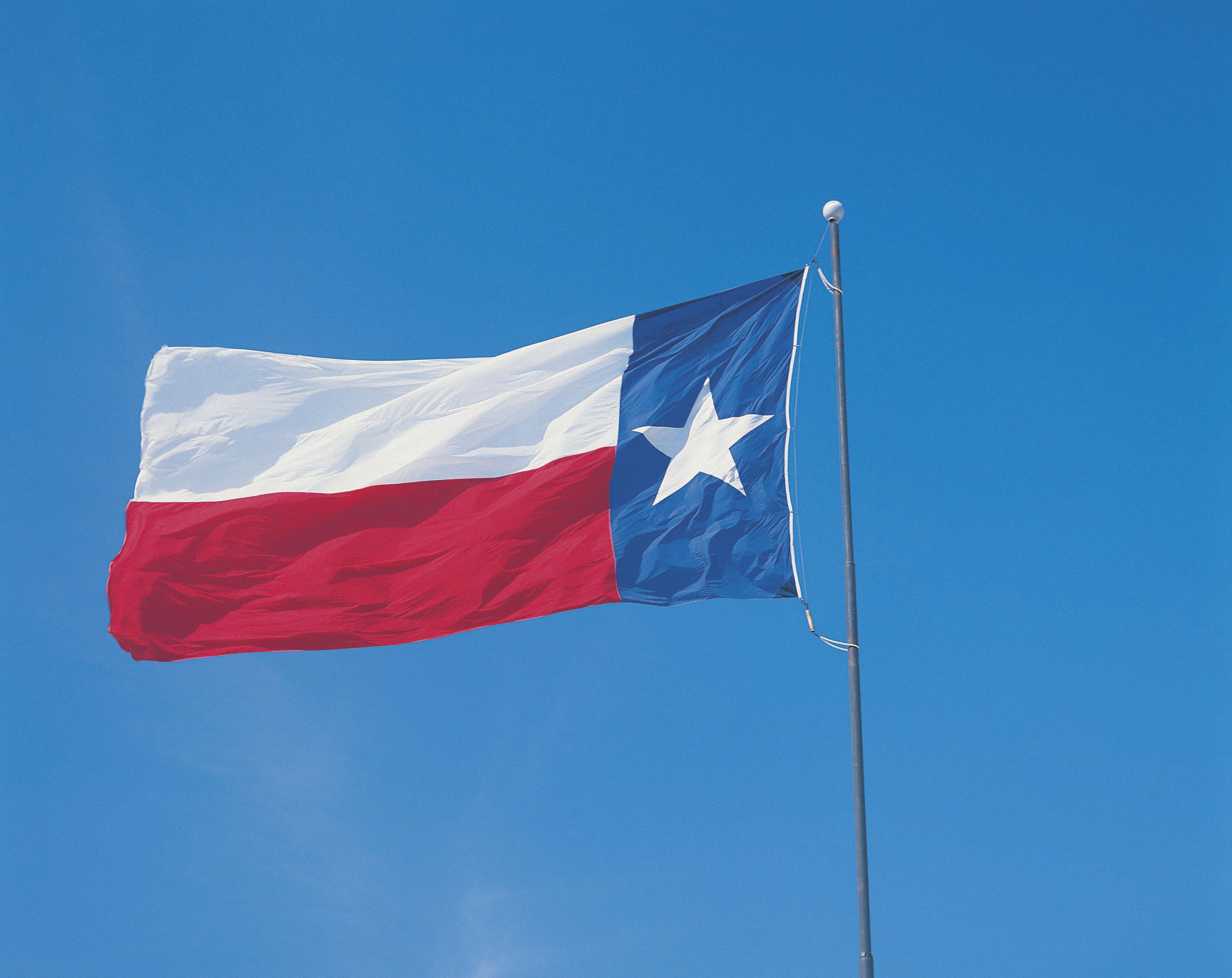Texas state flag, USA