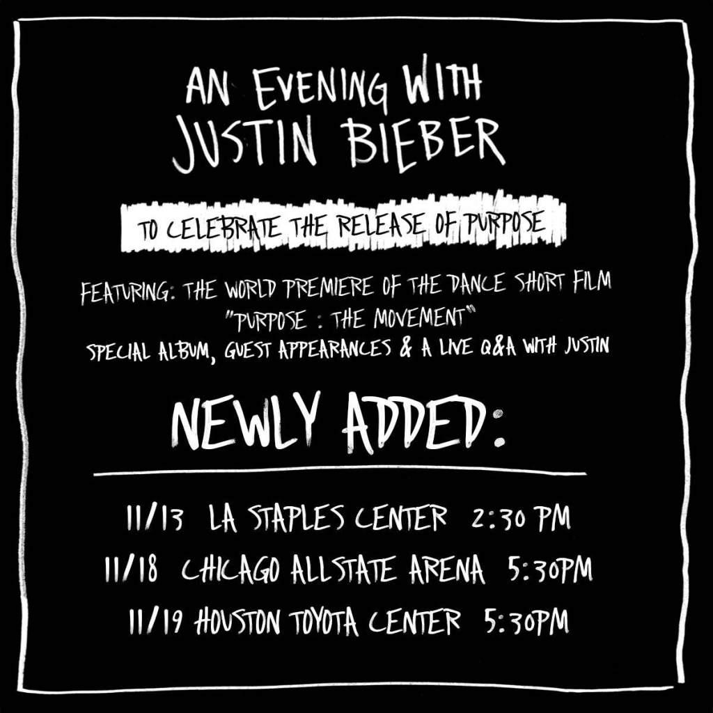 An Evening With Justin Bieber