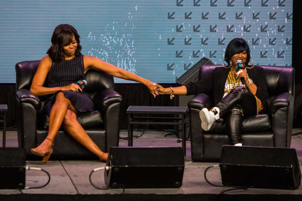 First Lady Michelle Obama Gives Keynote Address At SXSW In Austin, Texas