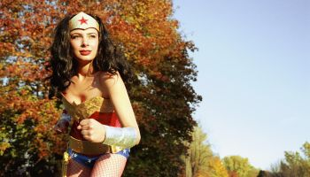 Woman Dressed as Wonder Woman
