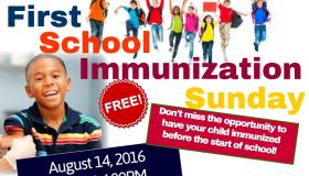 First School immunization Sunday