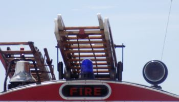 Ladder On Fire Engine Against Sky