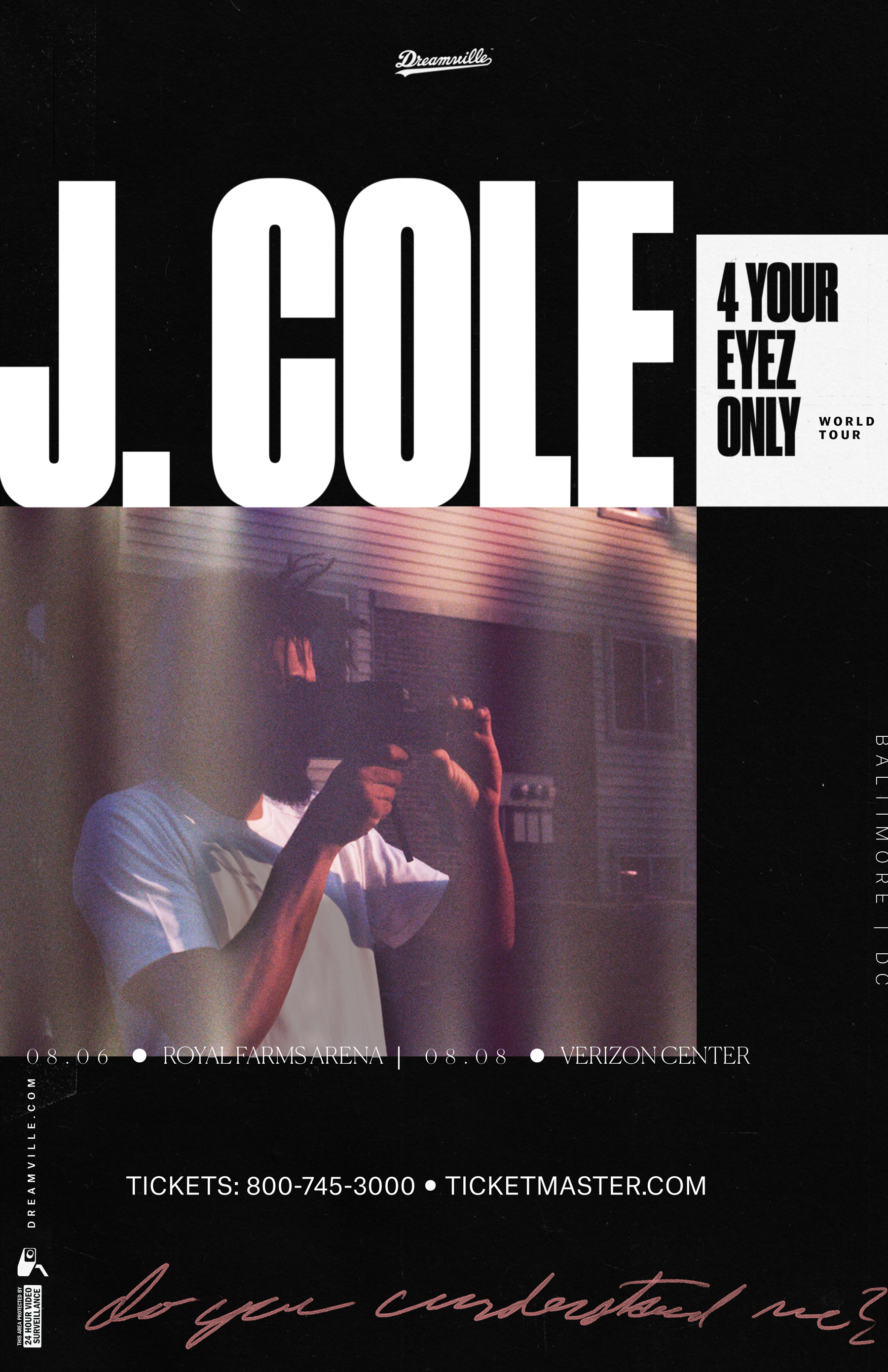 J. Cole For Your Eyez Only Flyer