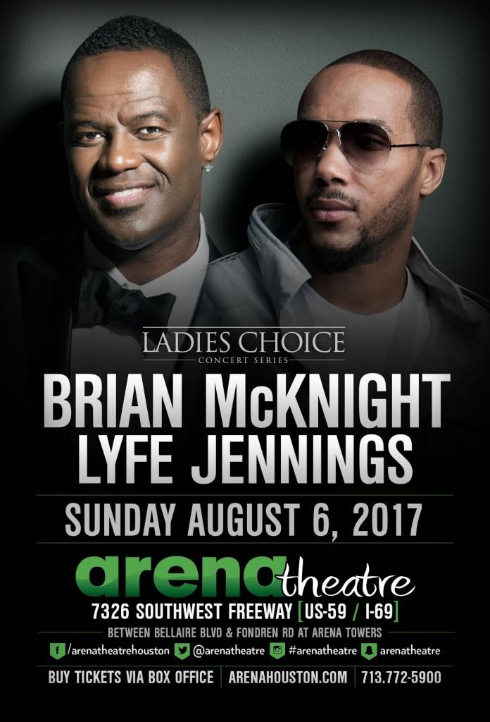 2017 Brian McKnight and Lyfe Jennings at Arena Theatre Houston