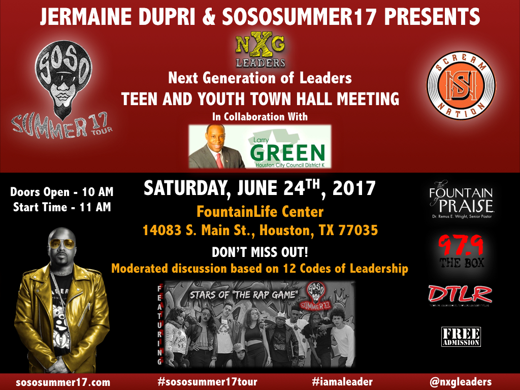 Jermaine Dupri & SoSoSummer17 Next Generation of Leaders