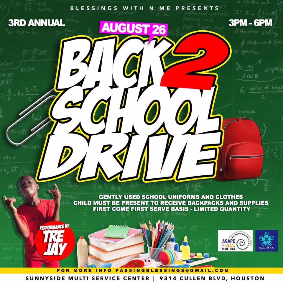 3rd Annual Back 2 School