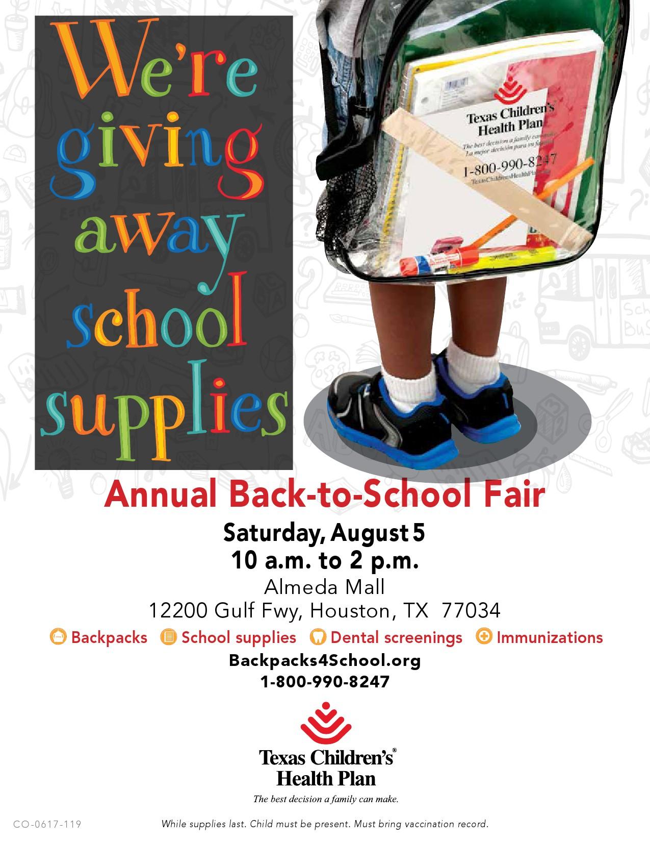 2017 Annual Back-to-School Fair