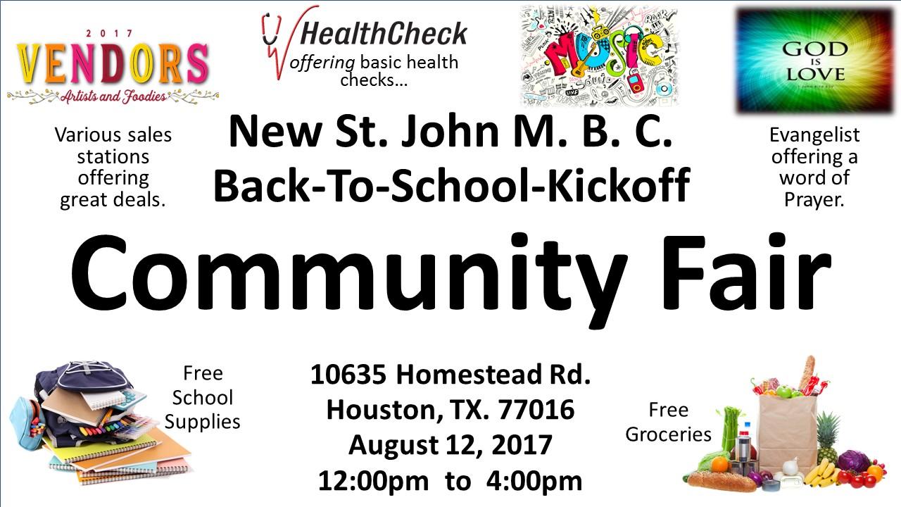 2017 St. John M.B.C. Community Fair