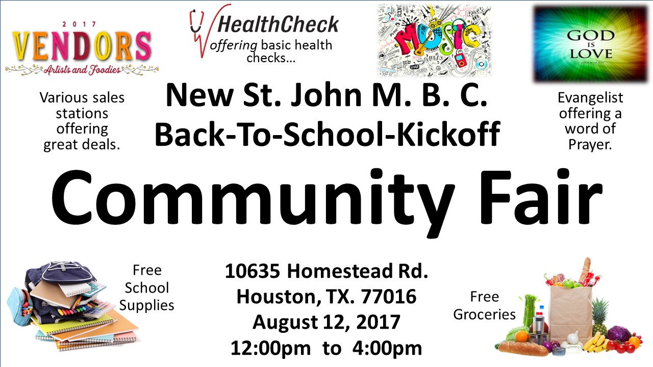 2017 St. John M.B.C. Community Fair