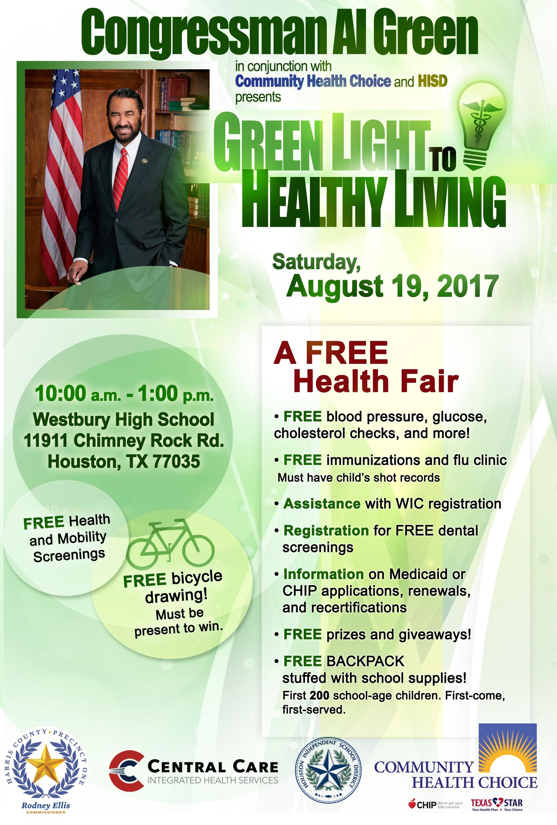Congressman Al Green - Green Light to Healthy Living