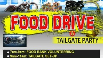 2017 9th Annual Houston Motorcycle Community Food Drive & Tailgate Party