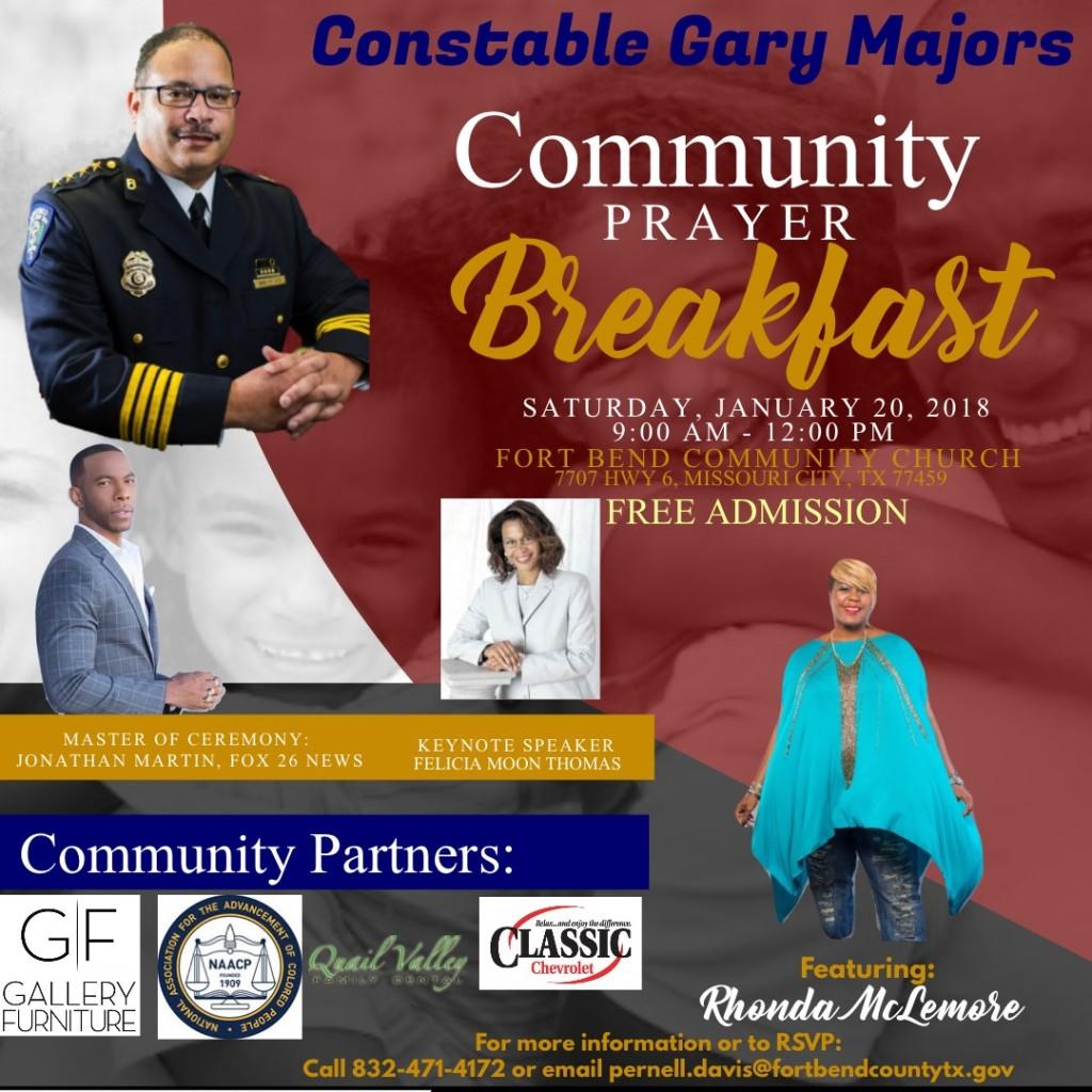2018 Constable Gary Majors Prayer Breakfast