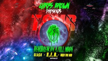 Chris Brown Heartbreak On A Full Moon Flyer