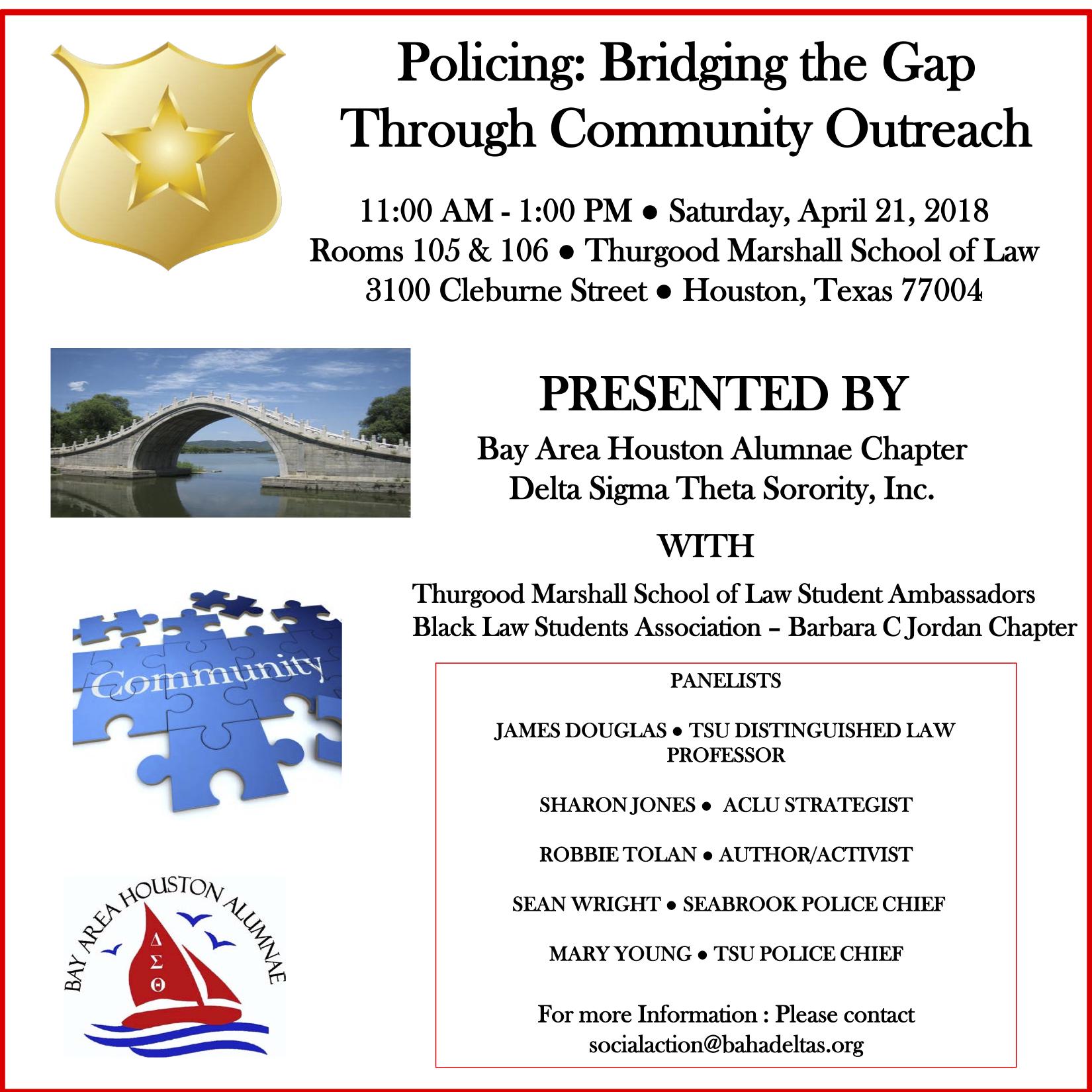 Policing: Bridging the Gap Through Community Outreach