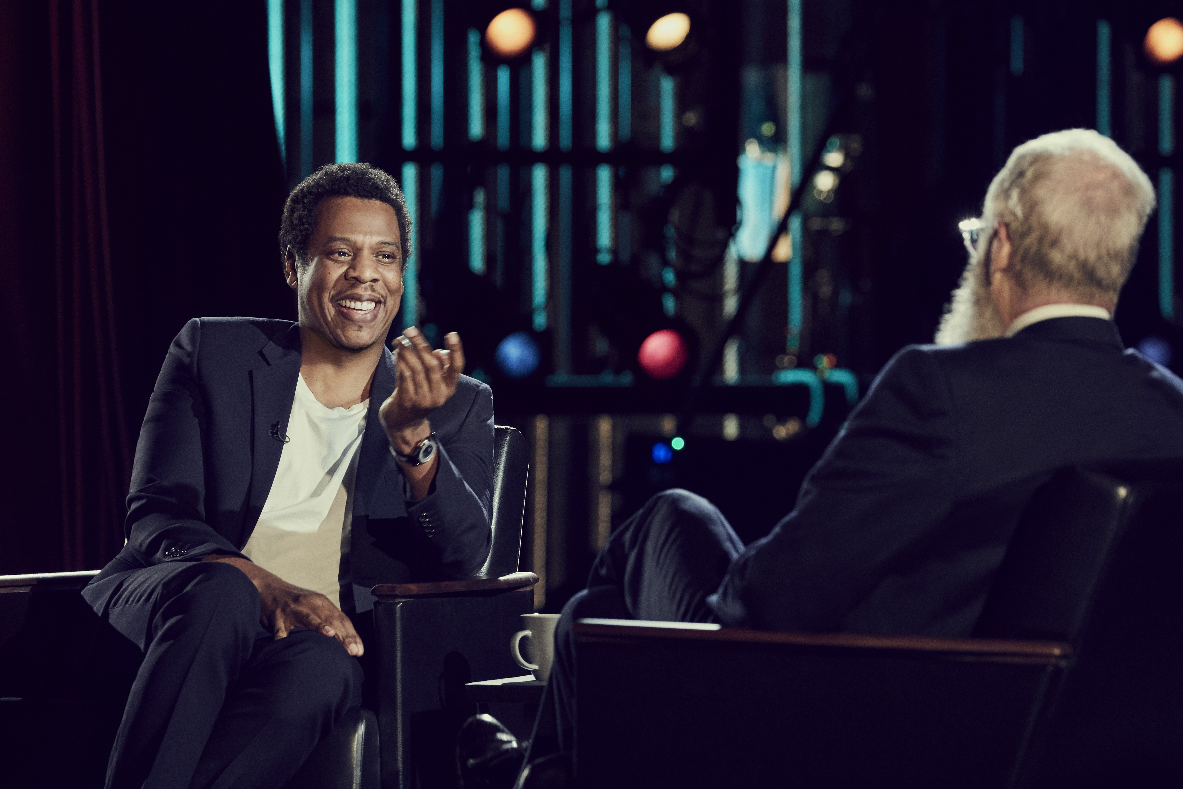 Jay-Z with David Letterman 1