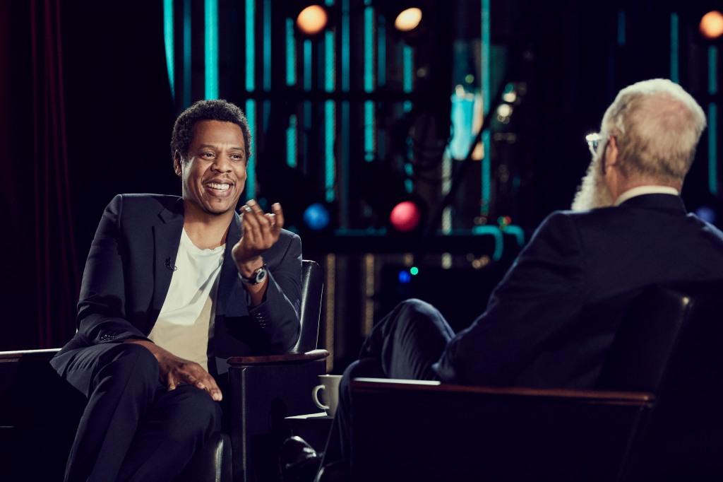 Jay-Z with David Letterman 1