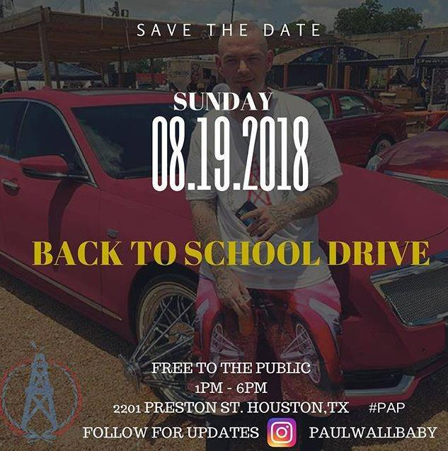 Paul Wall Back To School Drive