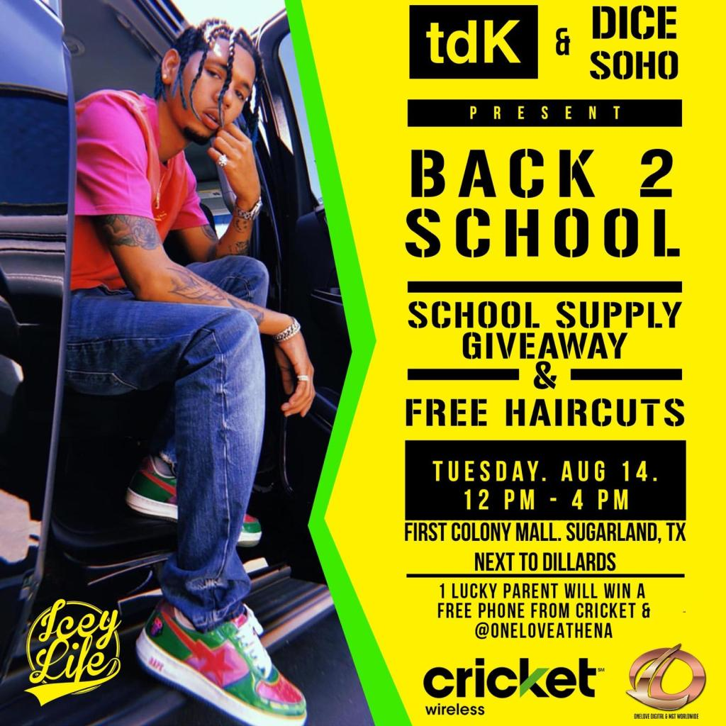 TDK & Dice SoHo Back 2 School Supply Giveaway