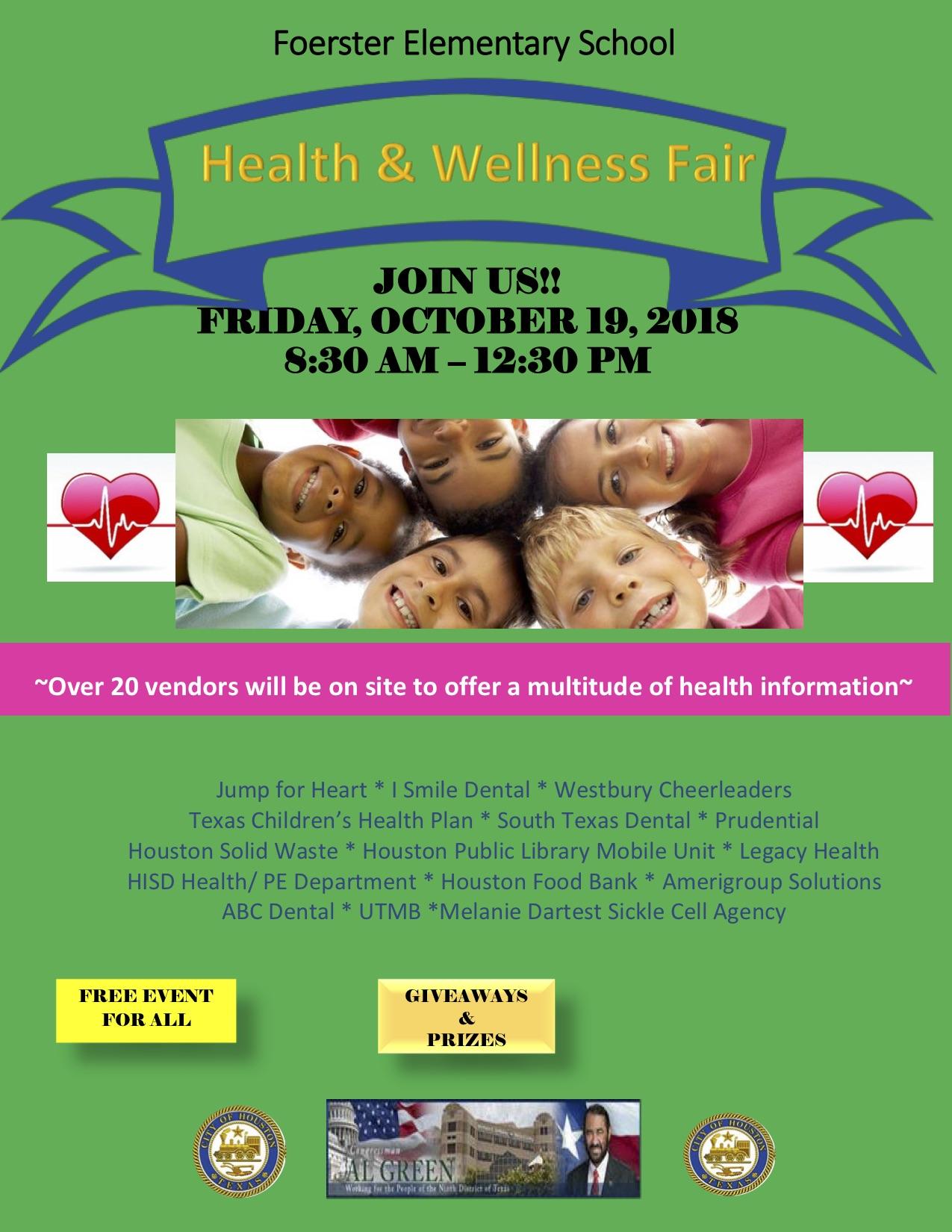 Forester Elementary School Health & Wellness Fair