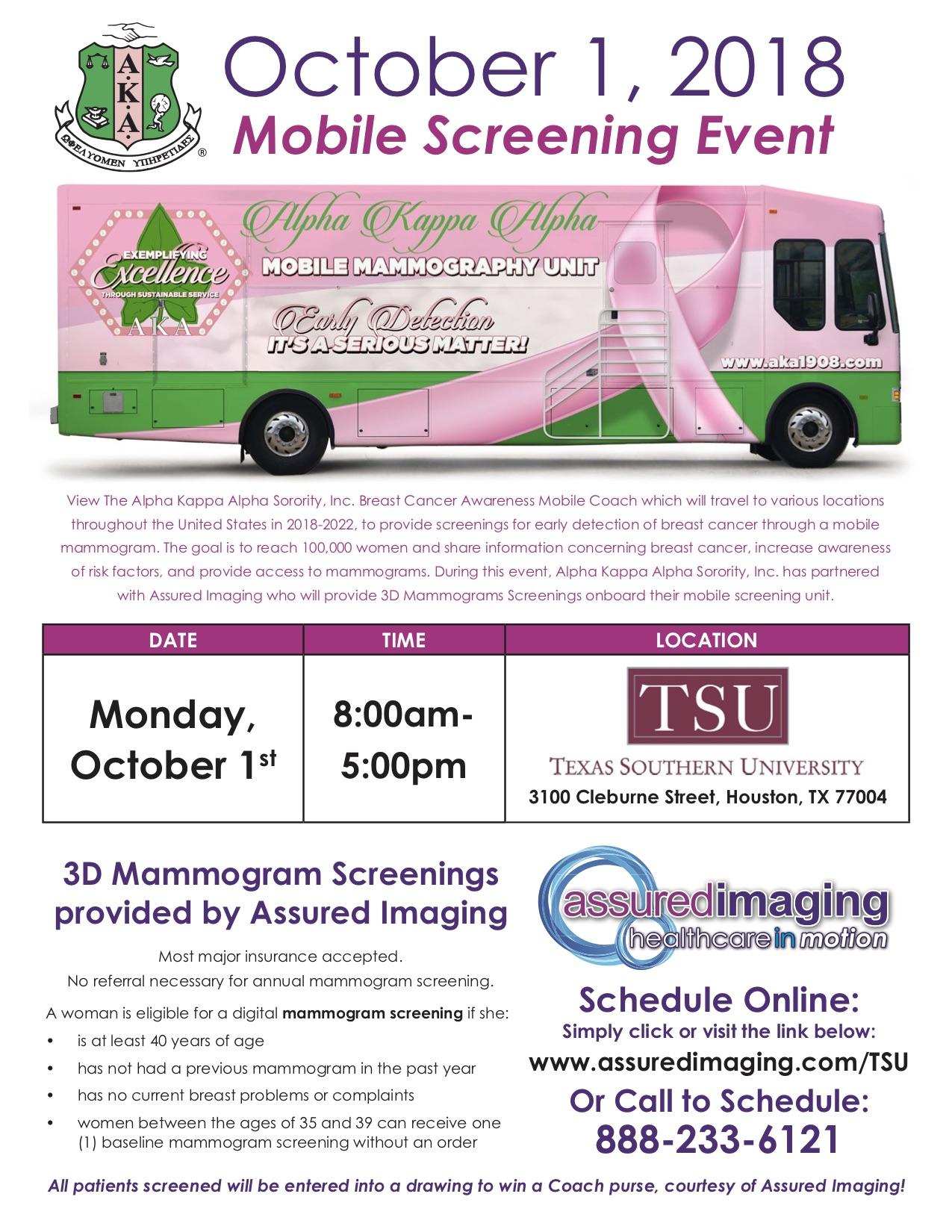 AKA Breast Cancer Mobile Screening