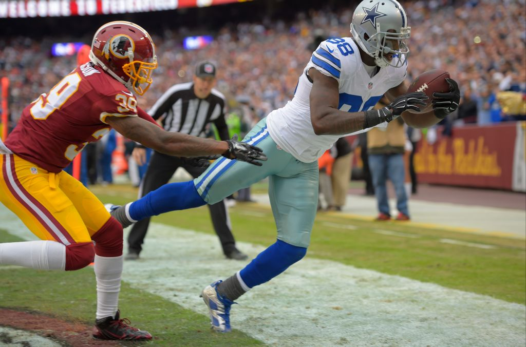 The Dallas Cowboys play the Washington Redskins