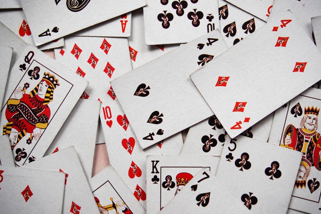 Full Frame Shot Of Cards