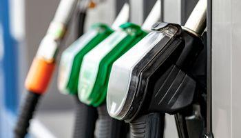 Petrol station fuel pump nozzles
