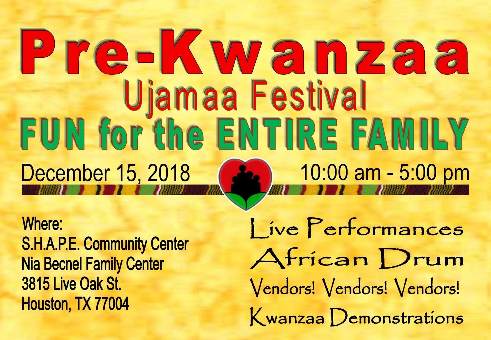Pre-Kwanzaa Ujamaa Festival
