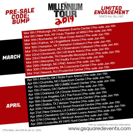 Image result for THE MILLENNIUM TOUR b2k