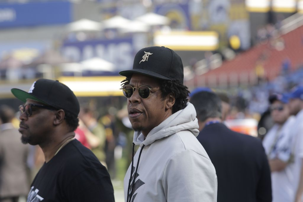 Celebrities out at the Los Angeles Rams game
