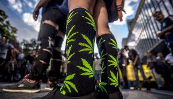 Marijuana March in Sao Paulo