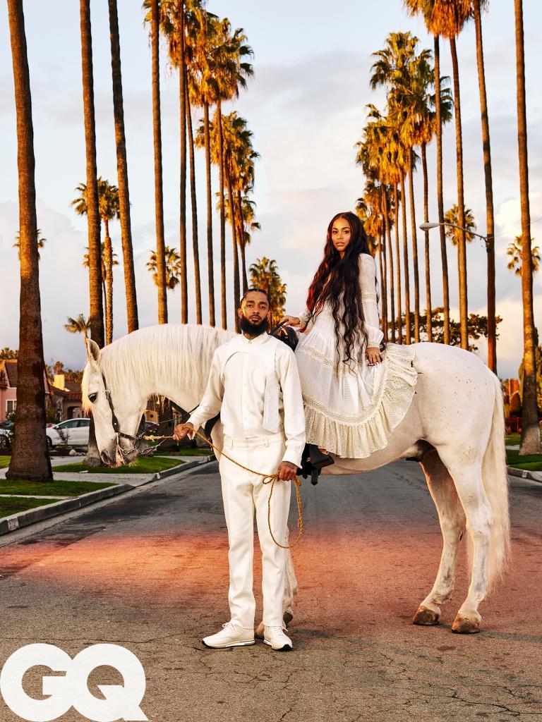 Lauren London and Nipsey Hussle GQ Shoot