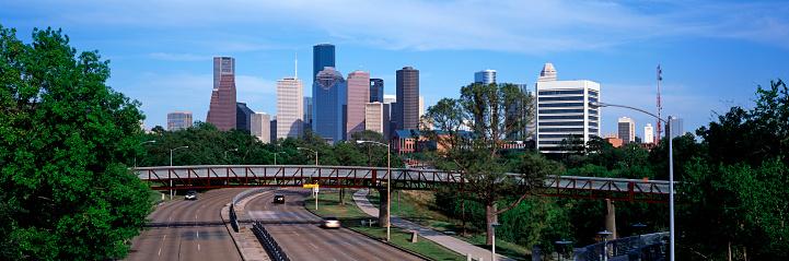 Panorama of Houston skyline