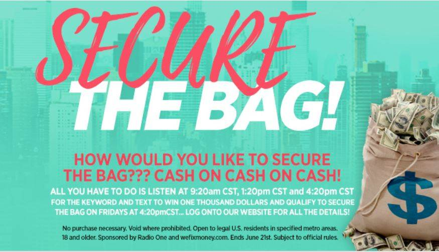 Enter Our Secure The Bag Contest And Win $1K! | 97 9 The Box