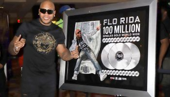 Flo Rida unveils personalized memorabilia case at Hard Rock Hotel & Casino Las Vegas