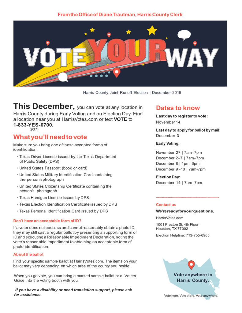 Harris County Runoff Fact Sheet