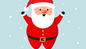 Santa Claus for Christmas and New Year Greeting Vector Design.