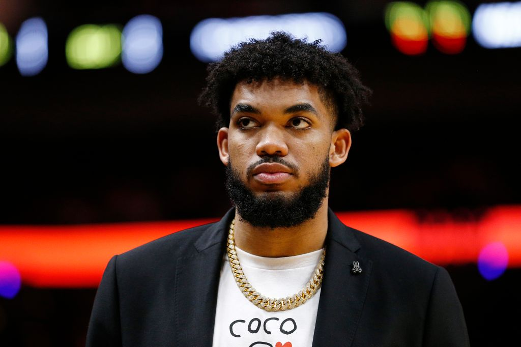 Karl-Anthony Towns On The Sideline