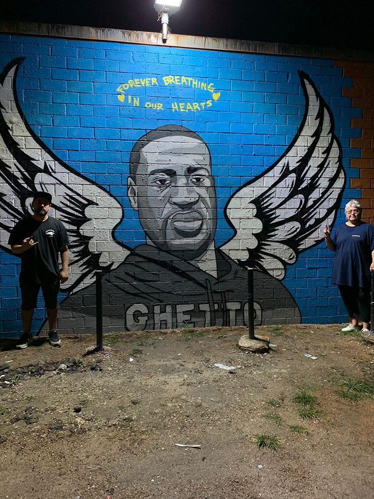George Floyd Mural Houston