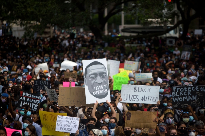 Thousands Protest In Houston For George Floyd