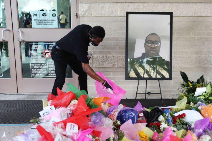 Mourner Near Portrait